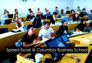 Speed Excel at Columbia University