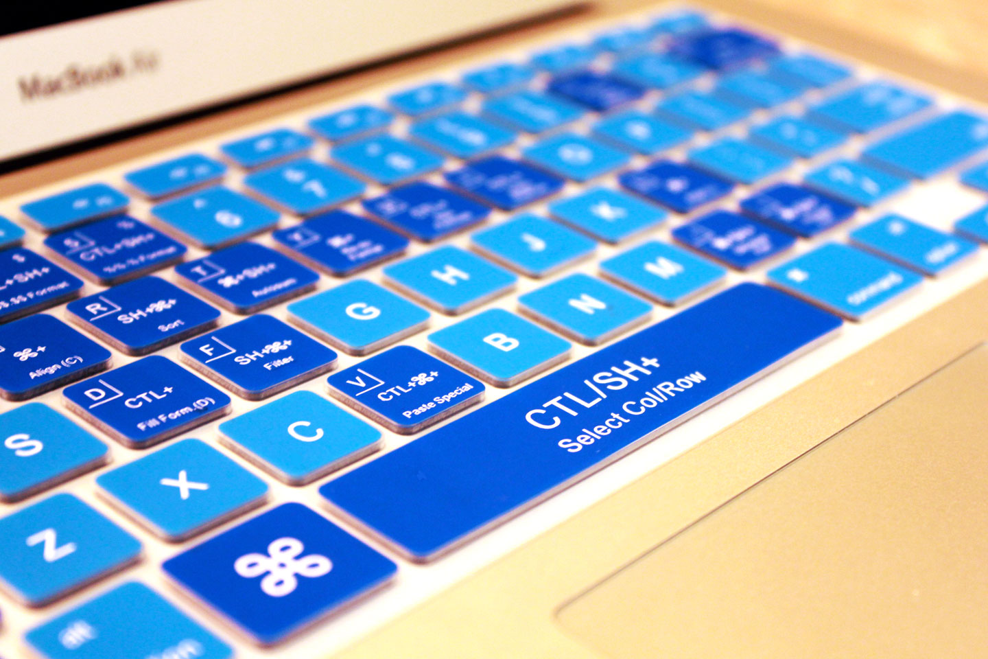 Cool Blue Keyboard Cover Keycuts Covers For Mac Excel