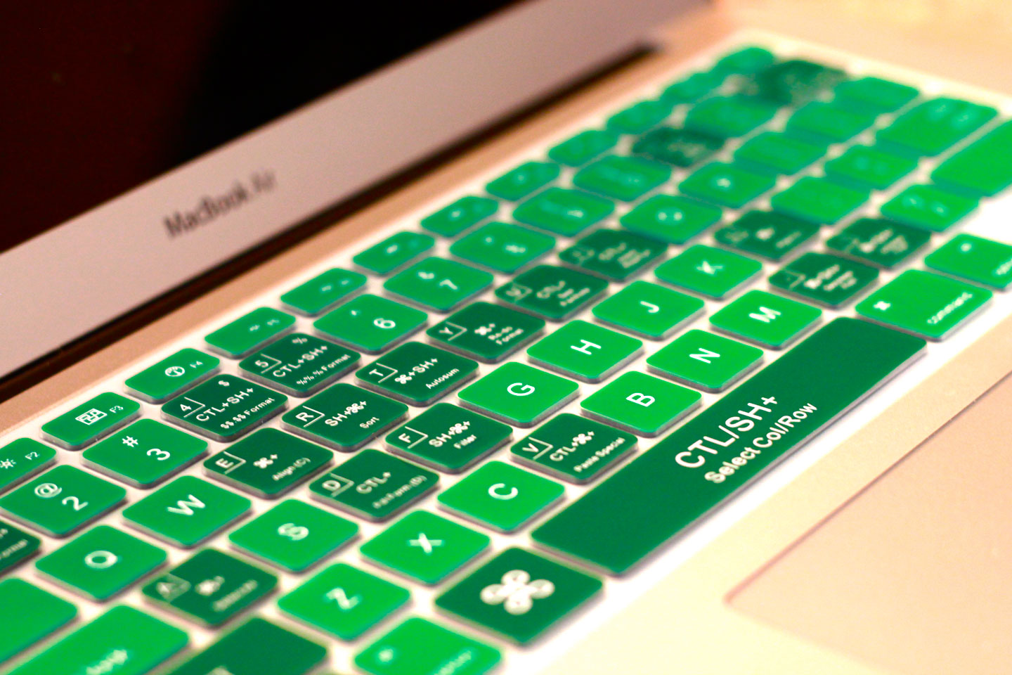 Emerald Green Keyboard Cover - KeyCuts Keyboard Covers for Mac Excel