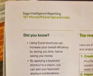 Sage 101 Excel Tips Tricks